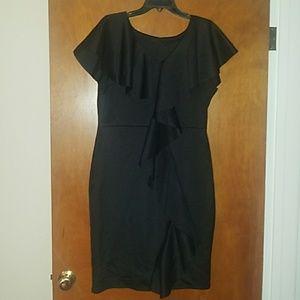 Black, Knit Dress, Short Length